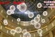 商業中庭垂吊發光球美陳吊燈銘星定制商場中庭吊飾