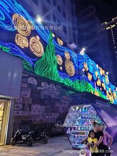 灯饰画中山铭星专业定制商场玻璃幕墙灯饰画工厂图片