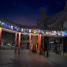 城市夜景灯光装饰道路天桥景观画亮化灯饰画定制图片