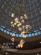 大型商场中空吊饰美陈布置定制厂家铭星专业灯光设计工厂图片