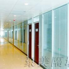 聚美玻璃隔斷直銷濟南會議室83雙玻百葉玻璃隔斷磨砂玻璃隔斷墻高隔間圖片