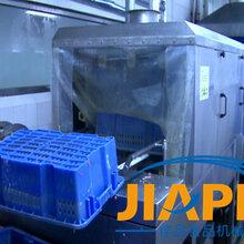 果蔬筐子冲洗机/塑料食品筐清洗机/塑胶筐子清洗线/馅料盘清洗机厂家图片