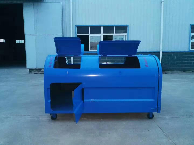 3吨碳钢分类垃圾箱销售点