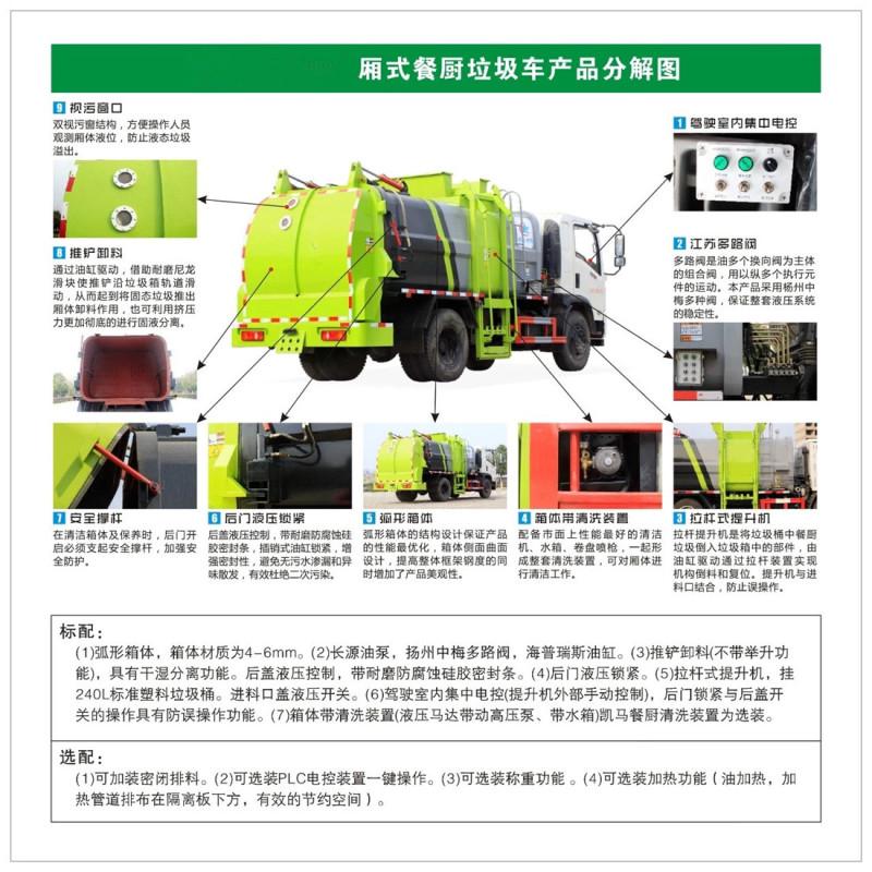 程力威国六餐饮垃圾收集车,沧州销售程力威餐厨垃圾车品质优良