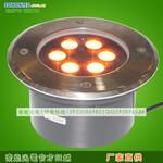 索能厂家直销6WLED地埋灯单色圆形6瓦埋地灯LED射灯景观亮化照明工程专用图片