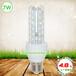 索能7WLED玉米灯,7W白光球泡灯,7WLED节能灯,3U管透明白光玉米灯
