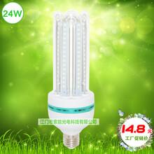 索能led螺口灯泡,3U型24W玉米灯E27照明,4U节能灯泡球泡灯,超亮暖白E27足瓦图片