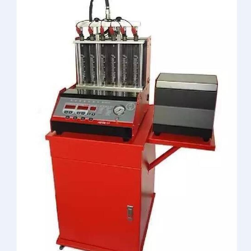 汽车喷油嘴检测分析仪超声波喷油咀清洗机电子调油压带免拆功能6C汽车维修保养设备