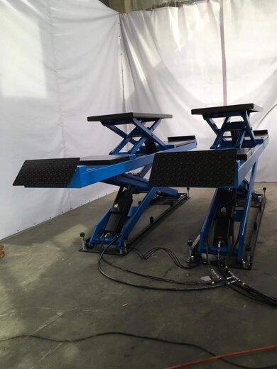 子母大剪举升机3吨升降汽车升降机销售地藏式修车厂4S店