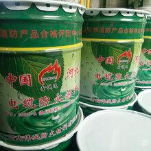 白色超薄的电缆防火涂料1桶价格_每桶50斤装塑料桶装图片