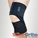 """仲民舒活B7-005护膝4.5""""全扣式膝绑带(黑)下肢固定带"""