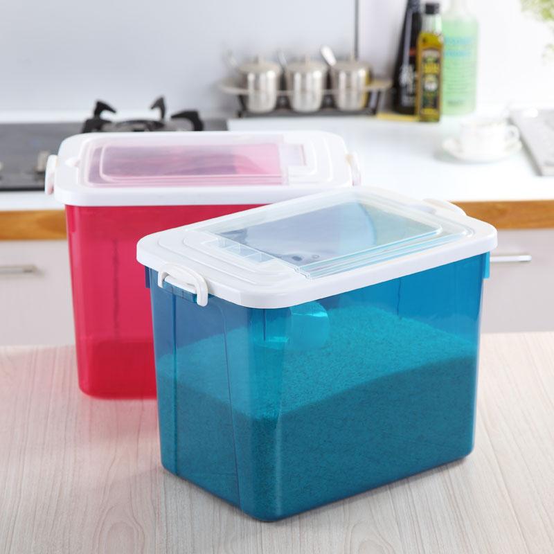 厨房家用塑料储米桶带盖密封塑料储米桶杂物收纳塑料