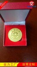 厦门集美大学纪念币制作,校庆礼品徽章纪念章订做,双面纪念币图片