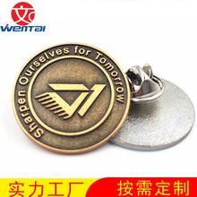 定做古銅徽章便宜徽章訂做汽車品牌胸章廣告徽章圖片