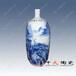 景德镇陶瓷花瓶礼品青花山水小花瓶手绘高档花瓶
