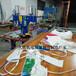 久硕滑台式软膜边条烫边机软膜扣边条压边机UV软膜PVC拼接机