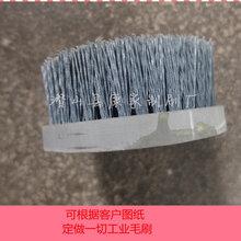 氧化鋁盤刷碳化硅毛刷金剛砂拋光刷定做圓盤毛刷除毛刺杜邦絲刷子圖片