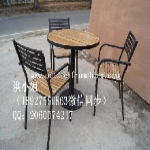 田园风格实木餐桌椅简约铝合金休闲桌椅定做批发