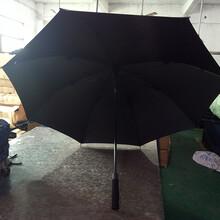 厂家定制全纤维纯黑高尔夫伞、可印刷LOGO图案图片