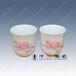 景德镇定制陶瓷杯,骨质瓷茶杯,水点桃花杯批发价格