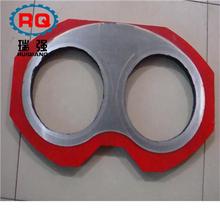 厂家直销砼泵配件鸿得利泵车配件加厚硬质合金眼镜板