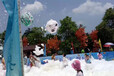 南沙楼盘活动喷射泡沫机节庆彩色泡泡跑商业活动喷射泡沫机