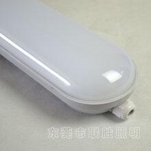 SMD贴片三防灯乳白PC罩免卡扣带光源IP65防水灯易安装三防灯架图片