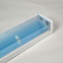 LED净化灯支架T8双管透明条纹PC罩带反光片四方形防尘灯架图片