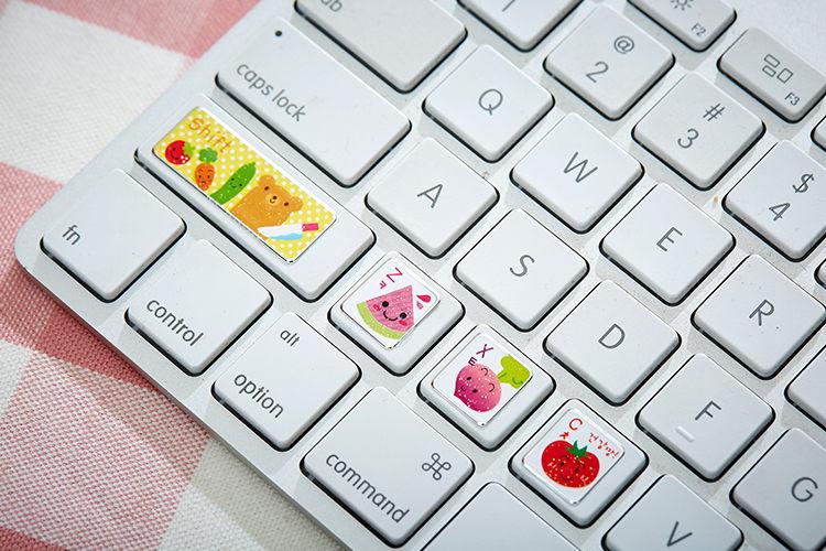 深圳厂家供应键盘彩色贴纸,手机贴纸,卡通可爱按键贴