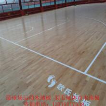 室内枫桦木篮球体育木地板厂家学校羽毛球场实木运动木地板施工图片