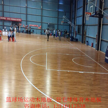 室内篮球场运动木地板枫桦木实木体育地板价格图片