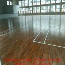 室内枫桦体育地板篮球实木运动地板厂家学校羽毛球舞台木地板施工图片