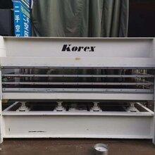 閑置二手木工機械Korex多層熱壓機人造板圖片