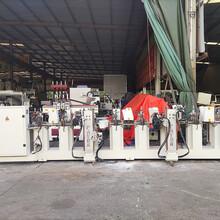 二手木工機械8頭線條砂光機拋光門套線的白身、木皮、油漆砂光圖片