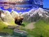 新疆乌鲁木齐市博物馆展览馆历史自然景观模型复原场景水泥雕塑假山假树艺术造型制作