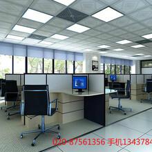 广州办公室装修钢化玻璃隔断价格办公室铺地毯价格