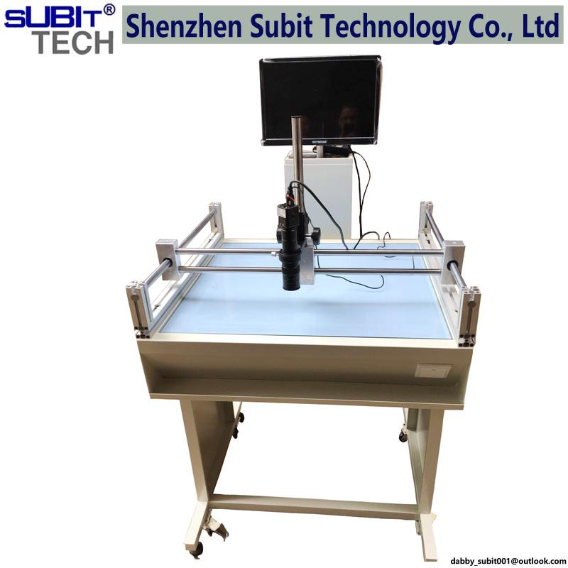 LED电路板FPC玻璃钢网丝网底片菲林检测设备CCD对位检测可调节