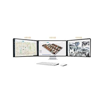 世邦可视化控制台软件模块适合运行在控制中心电脑、与IP网络寻呼话筒联动