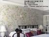 手绘丝绸真丝墙纸手绘金银箔壁纸手绘无缝墙纸壁画专业厂家直销