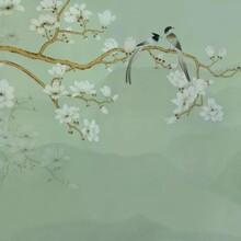 关于手绘墙纸墙布,手工刺绣钉珠壁画的设计和个性化定制图片