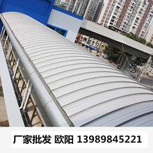 江苏浙江金属屋面板430型300型1.2厚氟碳漆铝镁锰板别墅屋面板图片