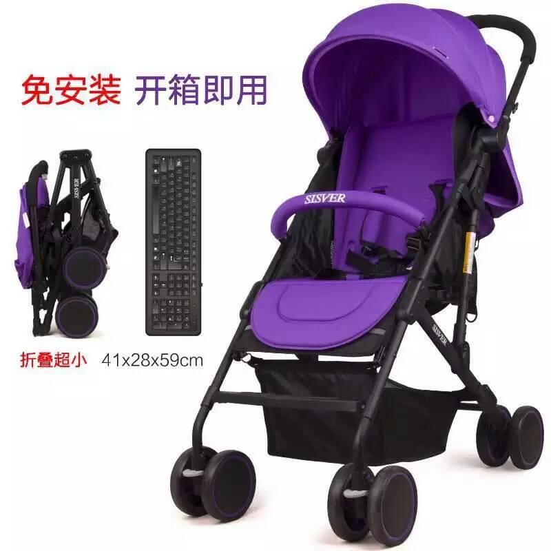 婴儿推车高景观儿童推车四轮可坐可躺宝宝手推车便携童车一键折叠