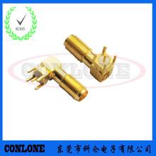 供应印制电路板PCB弯头SMA射频连接器90度封装SMA高频插座图片