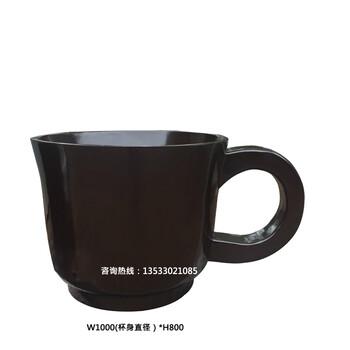 玻璃钢茶杯摆件室内外种植花钵花箱咖啡杯造型雕塑户外景观花盆