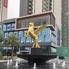 广场景观飞马雕塑玻璃钢仿古铜马雕塑地产景观骑士马雕塑玻璃钢人物雕塑摆件