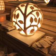 創意歐式園林燈仿砂巖庭院草地燈人造砂巖景觀燈砂巖園林燈透光圖片
