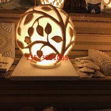 人造砂岩透光庭院灯罩景观户外防水雕塑酒店东森游戏主管饰门柱灯球图片