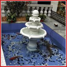 歐式噴泉景觀流水擺件砂巖小天使噴泉雕塑大型假山流水噴泉雕塑圖片
