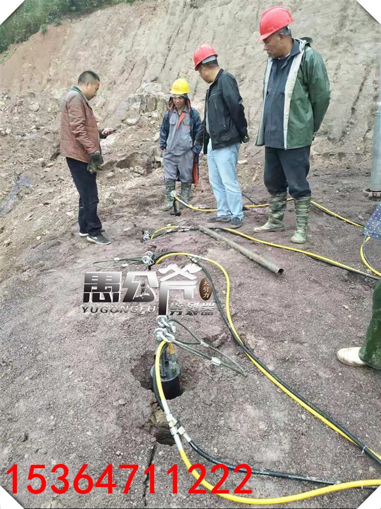 桂阳石场采石柴动分裂器
