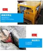 挖机炮锤打不动液压胀裂机兖州菏泽图片